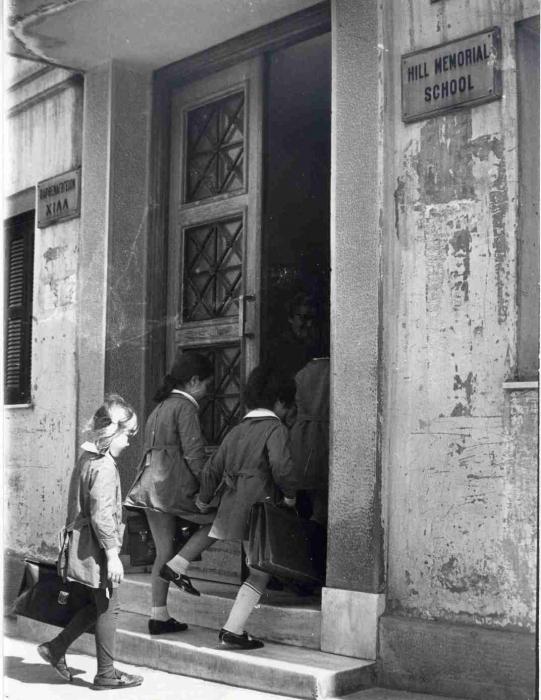 Είσοδος του παλιού σχολείου στην οδό Νικοδήμου