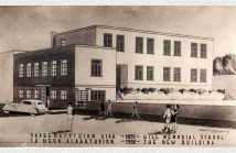 Σχέδιο με το νέο μέγαρο της Σχολής