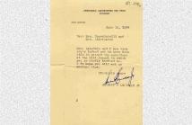 Επιστολή απάντηση του Lansdale Herbert